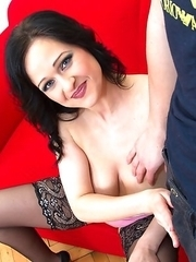 Hot MILF getting naughty in POV style