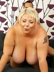 Naughty BBW with huge tits getting very dirty