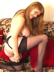 Naughty British housewife getting ready to be dirty